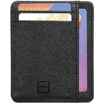 autentico 9dd51 2fdec Mercor Portafoglio Uomo Piccolo Porta Carte di Credito RFID|Porta Tessere  Sottile in Pelle PU Premium Schermato|6 Tasche Carte/Bancomat +1 Tasca  Porta ...