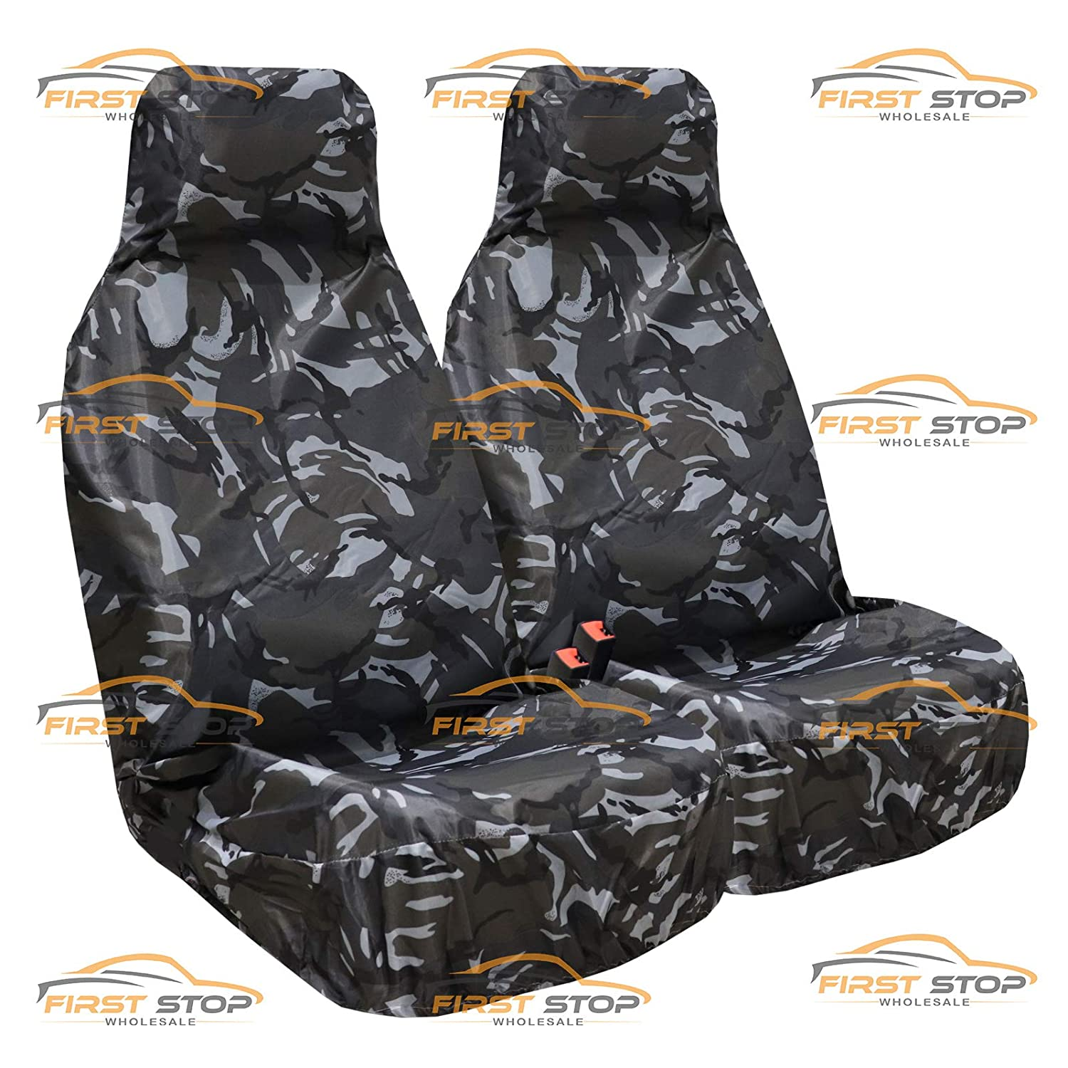 ASK Mirage FSW Heavy Duty Waterproof Car Front Green Camo Seat Covers 1+1 Green Camo HD1+1 Fits: 3000GT GTO Lancer Colt Grandis FTO Outlander Shogun Space Runner ASX Galant L200 Challenger