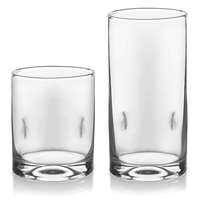 Libbey Impressions 16-Piece Tumbler and Rocks Glass Set