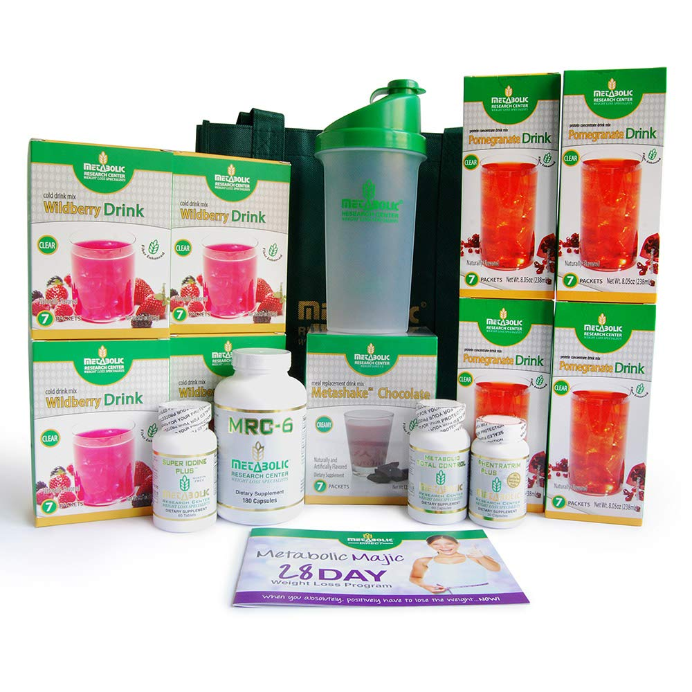 Metabolic Majic 28 Day Weight Loss Kit, Easy-to-Follow Instructions, 254.95 Value, Lose up to 20 Pounds, by Metabolic Research Center