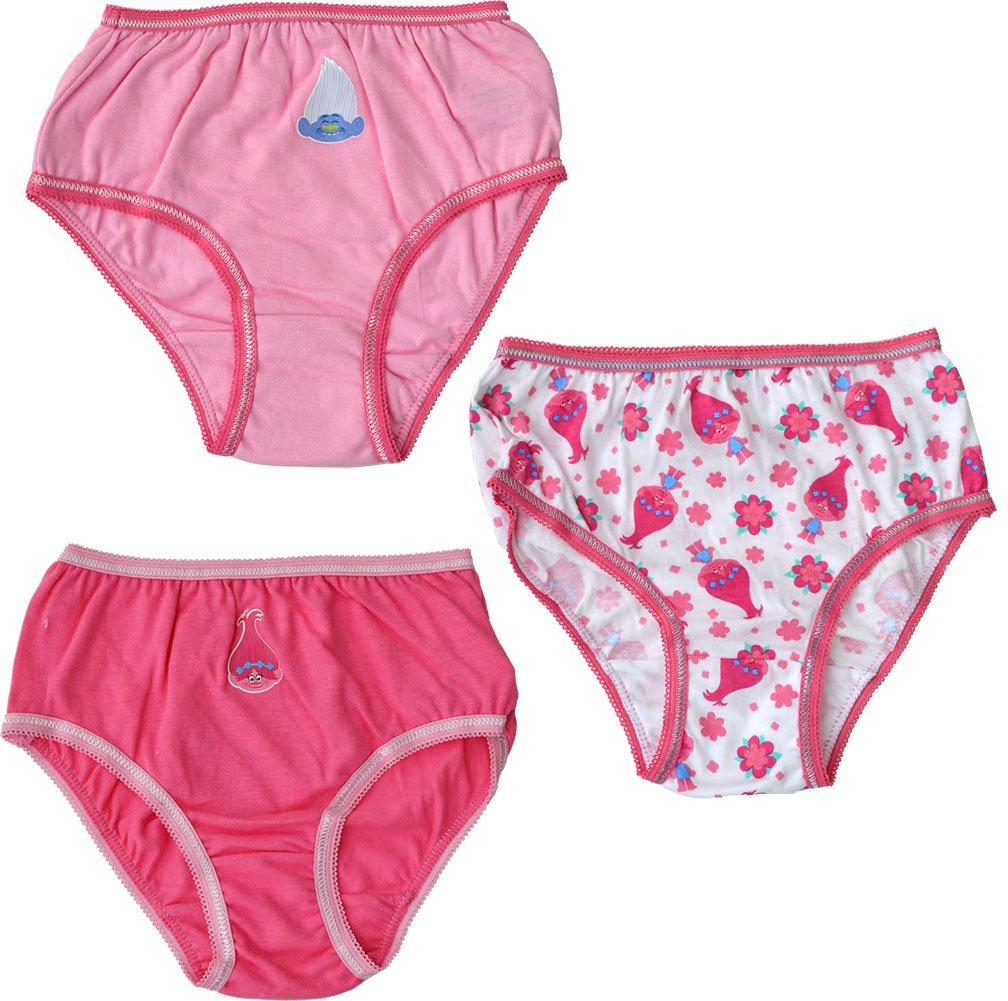 Trolls Briefs 3 Pack Girls Poppy Knickers Pants Underwear