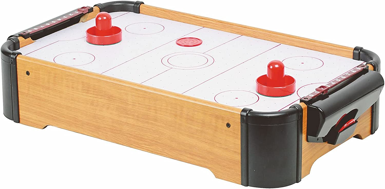 Mesa de air hockey (tamaño mini, con accesorios): Amazon.es ...