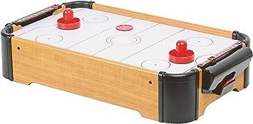Mesa de air hockey (tamaño mini, con accesorios): Amazon.es ...