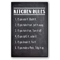 "Seven Rays Fridge Magnet ""Kitchen Rules"""