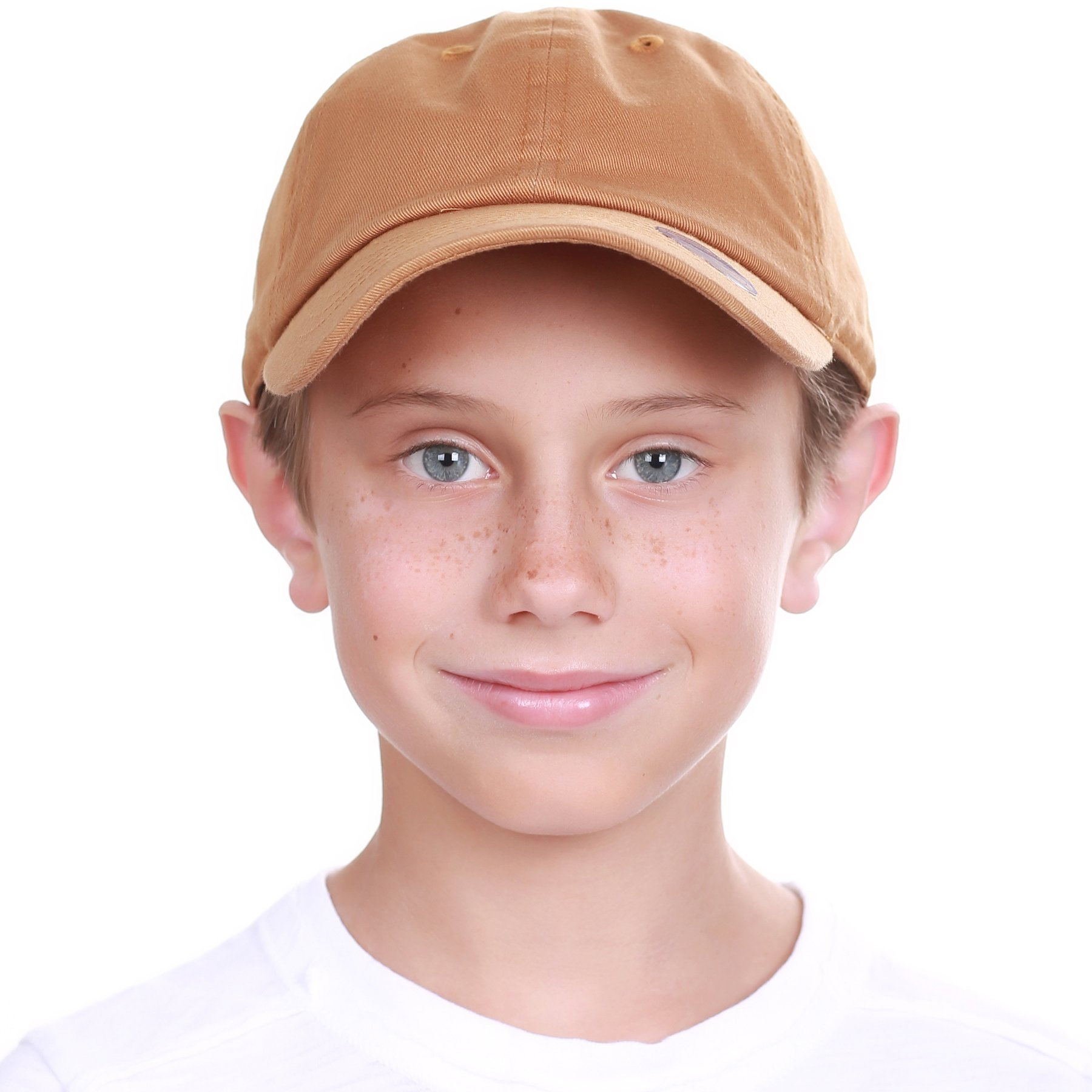 KBC-13LOW Tim (2-5) Kids Boys Girls Hats Washed Low Profile Cotton and Denim Plain Baseball Cap Hat Unisex Headwear