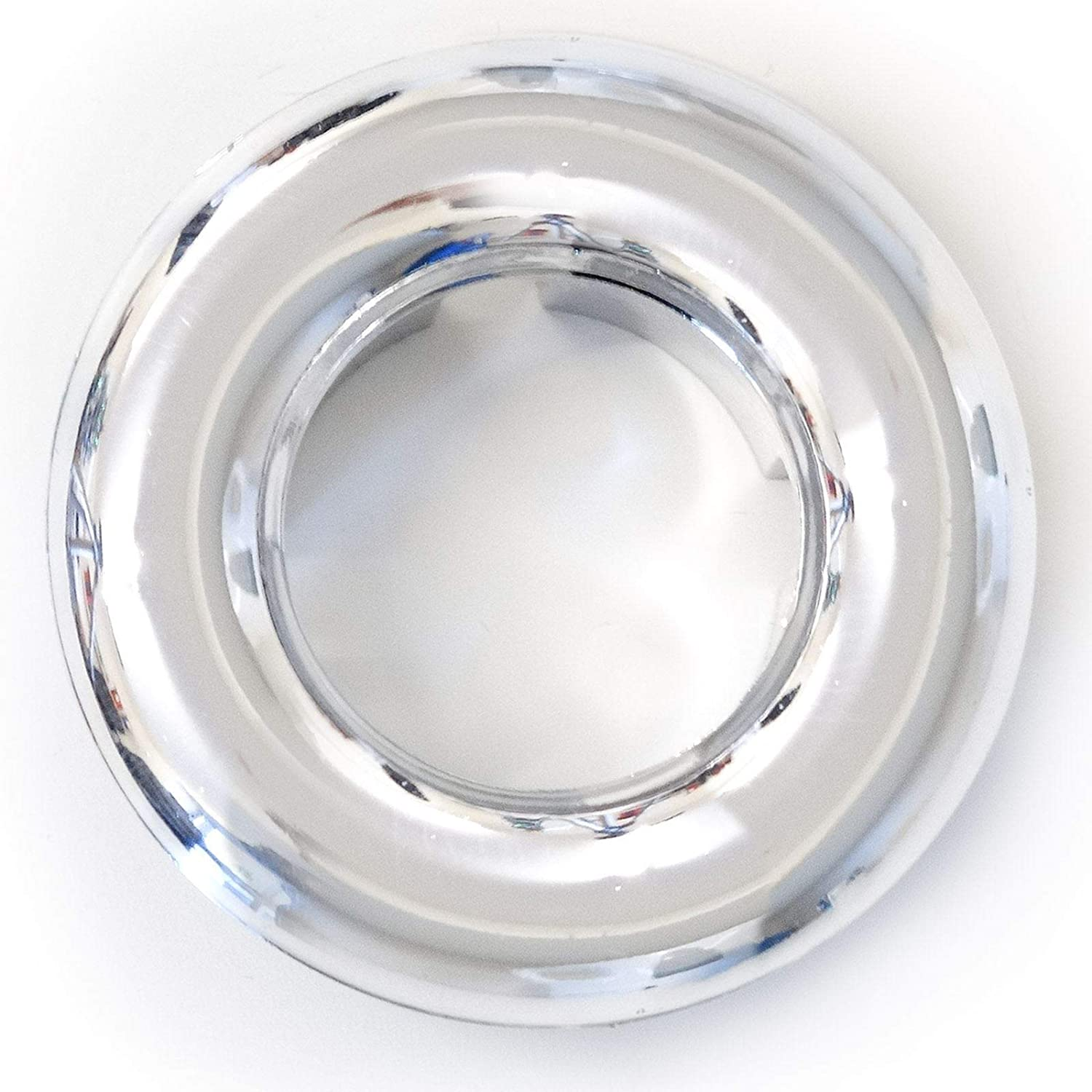 HomeCentre® 1 x Quality 24mm Chrome Bathroom Kitchen Basin Sink Overflow Hole Cover Ring Bolting Darts