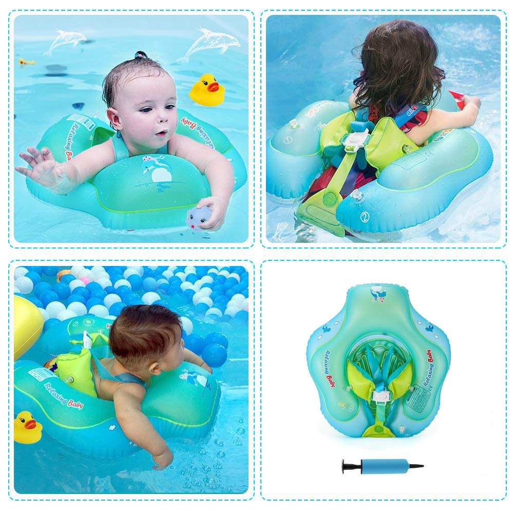 aPerfectLife Inflatable Baby Swimming Float Ring Spring Floats Swim Trainer Newborn Baby Kid Toddler Summer Outdoor Beach Water Bath Toy Swimming Pool Accessories Suitable for The Age of 6-36 Months by aPerfectLife (Image #6)