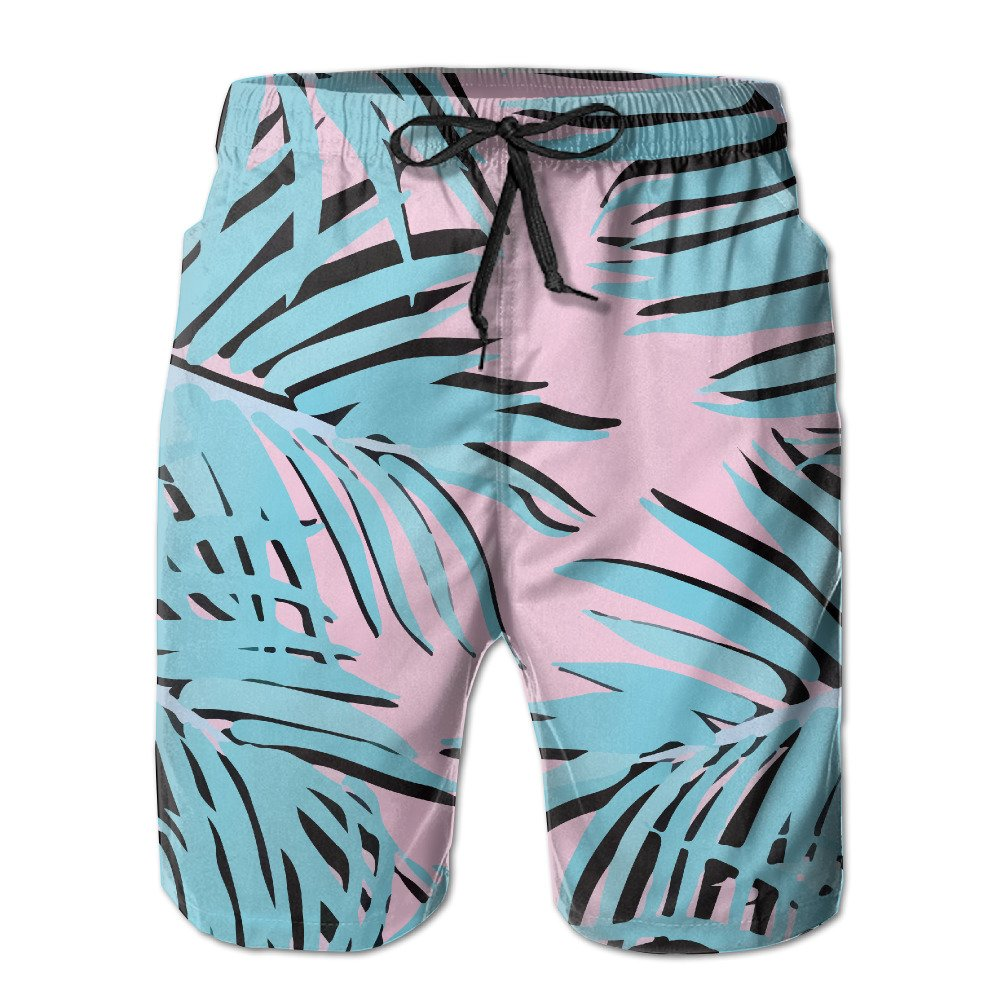 aa02a68f99 SYWG Summer Palm Tree Print Men's Beach Pants Casual Quick-Dry Bathing  Suits Swim Trunks Cargo Shorts With Pockets | Amazon.com