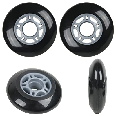 Player's Choice Inline Skate Wheels 68mm 82A Black Outdoor Roller Hockey Rollerblade 4 Pack : Sports & Outdoors