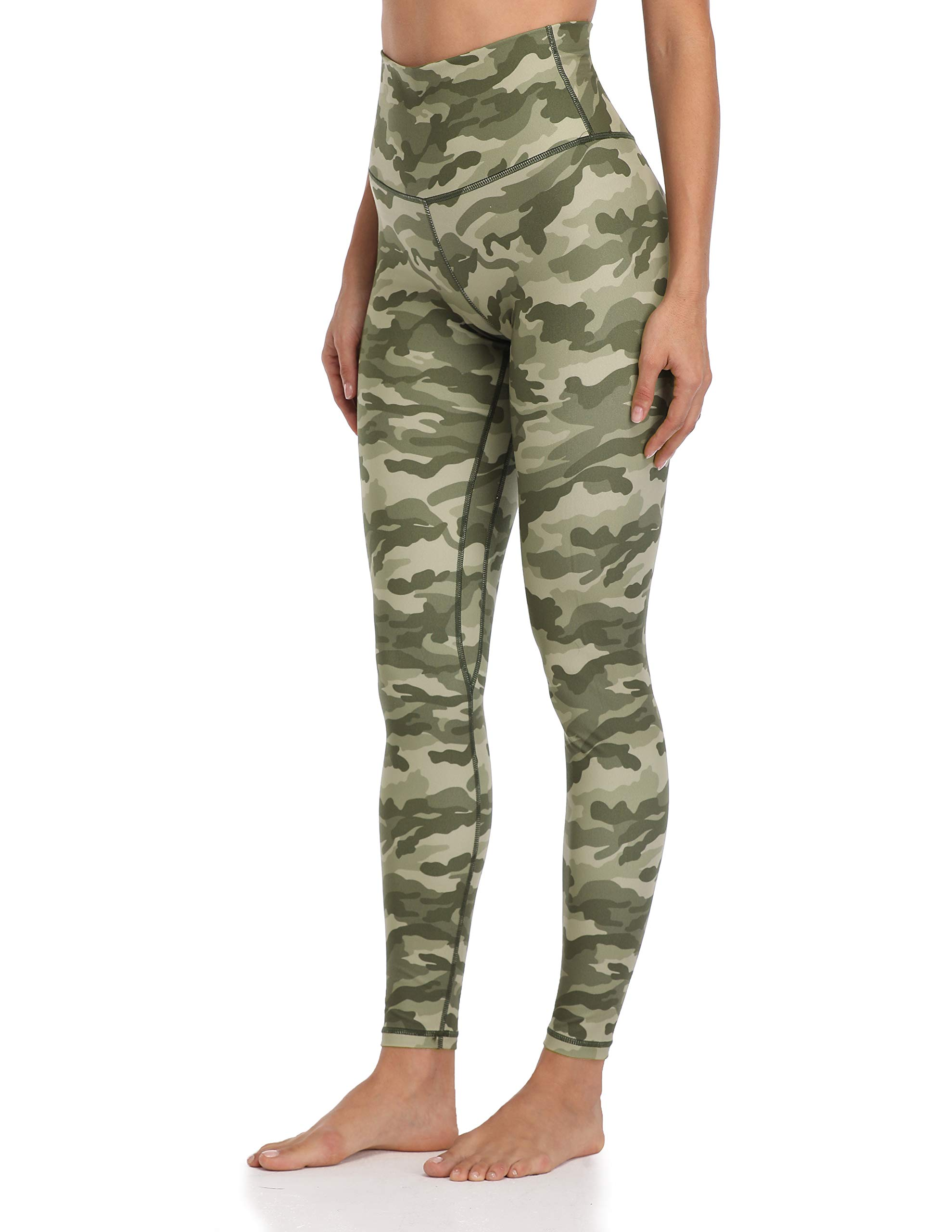 Colorfulkoala Women's High Waisted Pattern Leggings Full-Length Yoga Pants (XS, Green & Beige Mixed Camo) by Colorfulkoala
