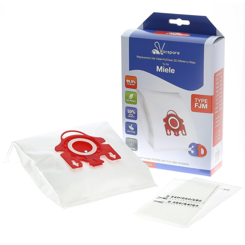 VACSPARE 3D FJM HyClean/AirClean bolsas de polvo para aspiradoras ...