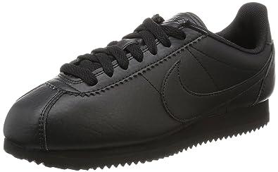 Nike Women s Classic Cortez Str Black Black-Black Ankle-High Running Shoe - 9de29c340