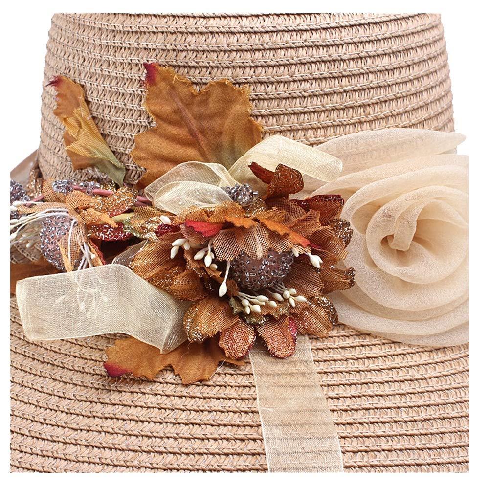 Outdoor Sun Hat Lafite Flower Straw Hat Hat Ladies Big Hat Sun Hat Girl Flower Lace Beach Hat