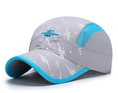 f34efedb64413 Home Prefer Kids Boys Lightweight Quick Drying Sun Hat Outdoor Sports UV  Protection Caps Mesh Side Ball Cap Gray  Amazon.in  Clothing   Accessories
