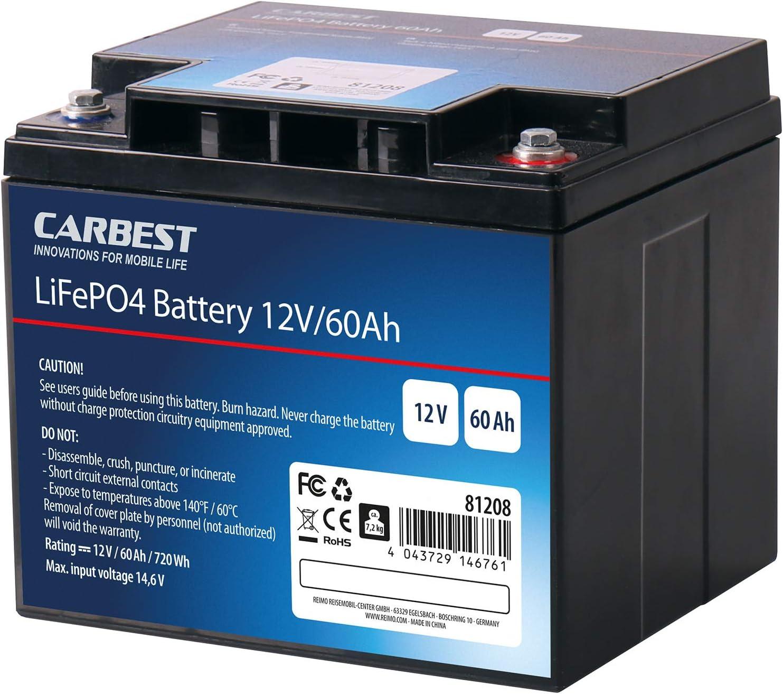 Solarbatterie Bordbatterie Lifepo4 Batterie Mit Verschienden Ladungsmengen Lithium Eisen Phosphat Batterie Für Wohnwagen Wohnmobil 60 Ah Auto