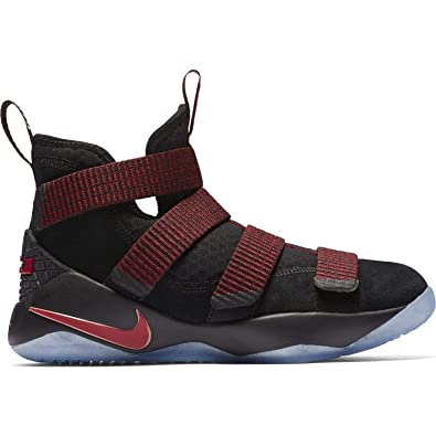 af0117015f8 Nike Boys  Lebron Soldier Xi Basketball Shoes Black Black-Team Red 6Y  Buy  Online at Low Prices in India - Amazon.in