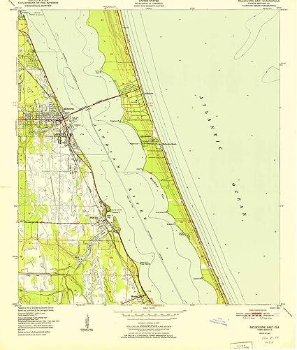 Amazon Com Melbourne East Fl Topo Map 1 24000 Scale 7 5 X 7 5