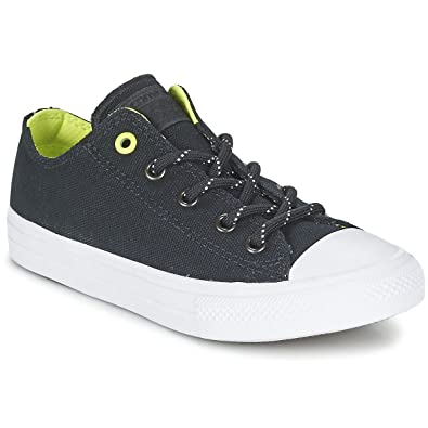 f6b77a8d7756 Converse Kids Boy s Chuck Taylor All Star II Ox (Little Kid) Black Volt