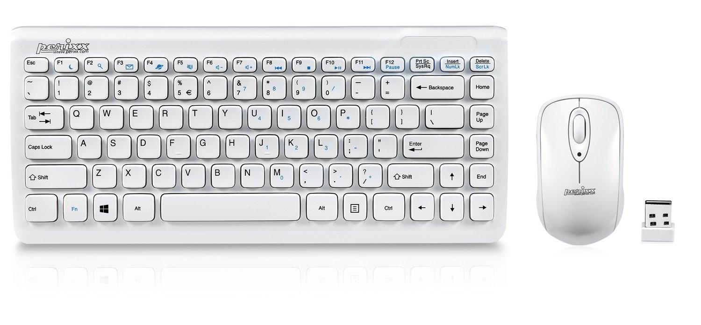 Perixx PERIDUO-707W PLUS ES, Pack de teclado y ratón inalámbrico Mini: Amazon.es: Electrónica