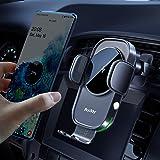 Auckly trådlös billaddare, [Elektromagnetisk sens], Qi 15W snabb i bil trådlös laddare automatisk sensor…