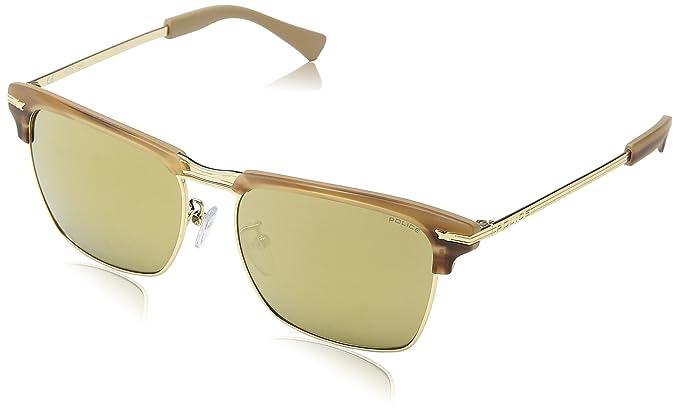 Police Herren Sonnenbrille SPL142, Braun (SH.Brown Havana), Einheitsgröße