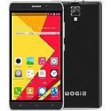 Wogiz® 5.5 inch WX90 Pro SmartPhone Unlocked Android 5.1 MTK6580 Quad Core ROM 8GB 5.0MP Camera Dual Sim Quadband GSM/3G Cellphone (Black)