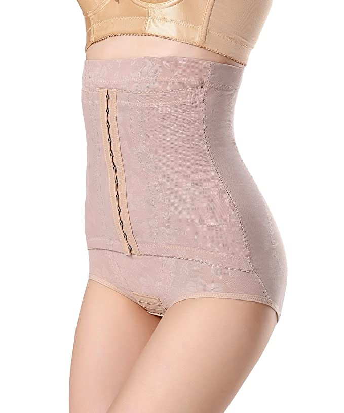 c8c7d32a58b FLORATA High Waist Breathable Body Shaper Slimming Hip up Corset Panties at Amazon  Women s Clothing store