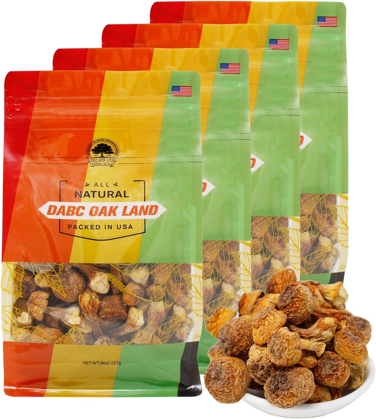 DOL Natural Wild Dried Almond Mushroom Agaricus Blazei 姬松茸 Food additives Free - in Bag (2 Pound)
