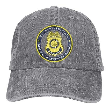 Gxdchfj Servicio de Seguridad diplomático de Estados Unidos Gorras de béisbol Ajustables Sombreros de Mezclilla Unisex22