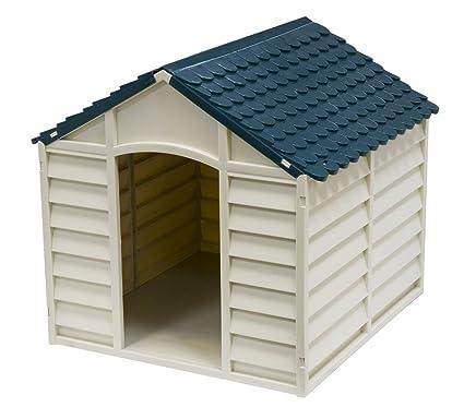 4568 Caseta de resina en forma de casa para perros PROLABZOO 78 x 85 x 80