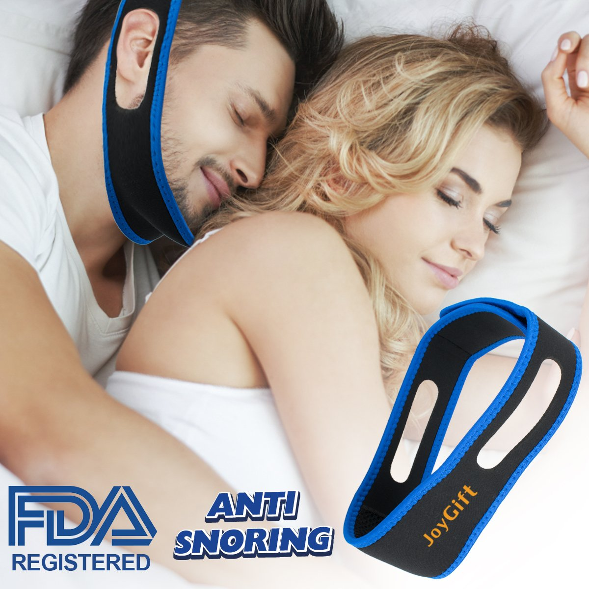 Anti Snoring Chin Strap, Snoring Solution Anti Snoring Devices Adjustable Snore Stopper Strap for Sleep Aid Snoring Reduction Chin Strap for Men Women