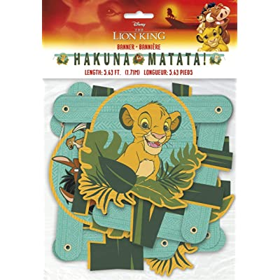 Disney Lion King Jointed Party Banner Large, 1ct: Toys & Games