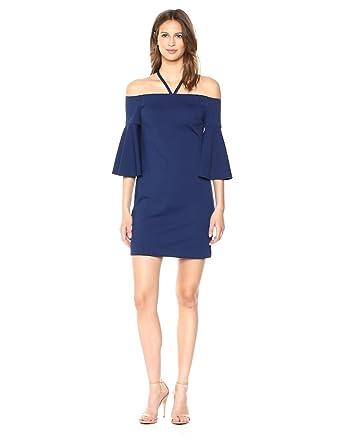 26e4072c Trina Trina Turk Women's Shell Beach Off The Shoulder Bell Sleeve Dress,  Bondi Blue,