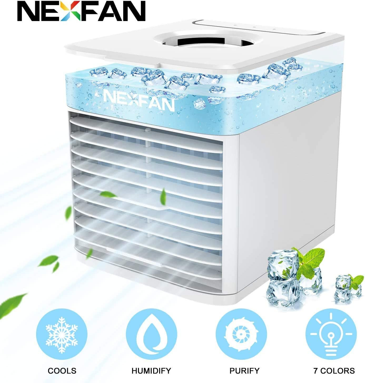 Lámparas portátiles de aire más fresco -NexFan 4 en 1 Mini ...