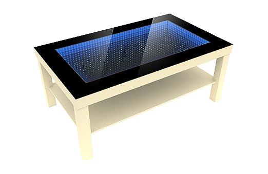 Foram Modern Couchtisch Glastisch Beistelltisch Tiefeneffekt Tisch