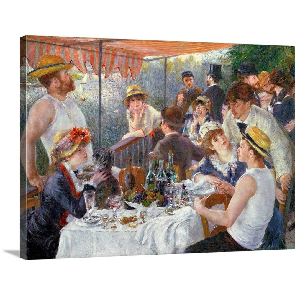 Pierre Auguste Renoirプレミアムシックラップキャンバス壁アート印刷題名The Luncheon of the Boating Party , 1881 40