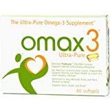 OMAX3® Ultra-Pure 93.9% Omega-3 Wild-Caught Fish Oil High-Potency 1500 mg 4:1 Ratio EPA/DHA ✱ NSF-Certified, Soy-Free, Gluten-Free, Non-GMO ✱ 60 Softgels, 1-Month Supply