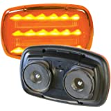 Amber led light, battery powered, magnetic, heavy duty magnets,