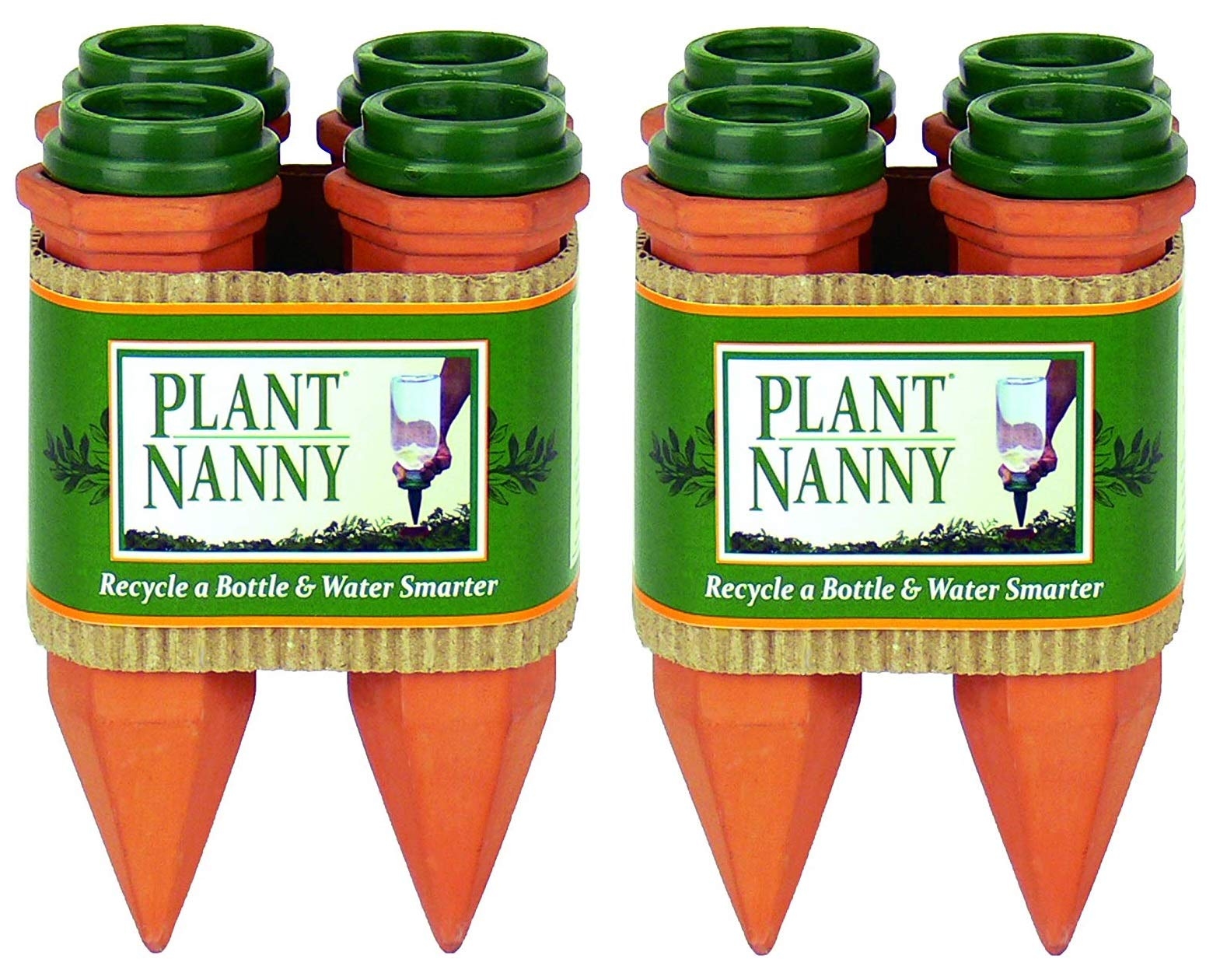 Plant Nanny 6053 4 Count Recycle a Plastic Bottle Stake Set (2-(Set of 4))