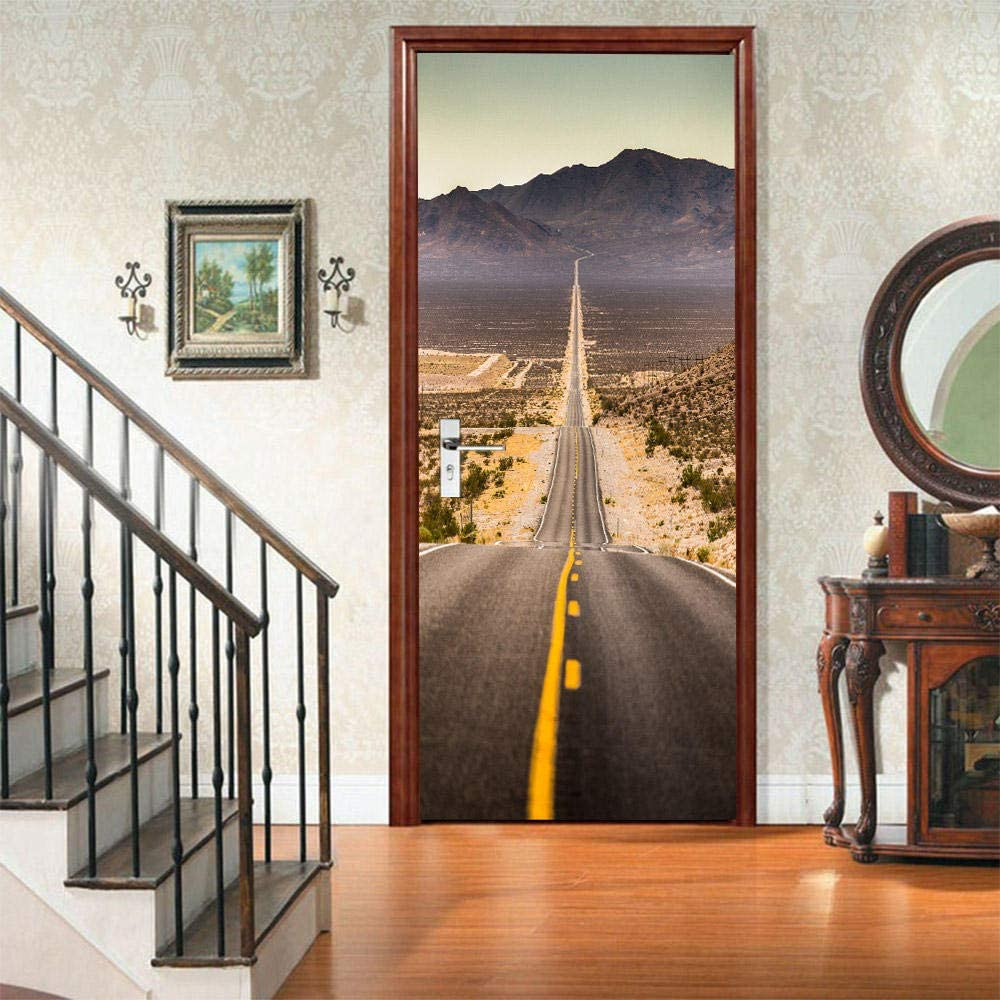 Etiqueta De La Puerta 3D Murales Diy Vinilo Paisaje de la ...