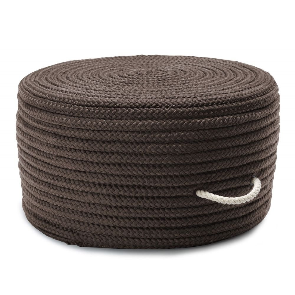Colonial Mills Braided Round pouf/ottoman 20''x20''x11'' in Gray Color From Simply Home Solid Pouf Collection