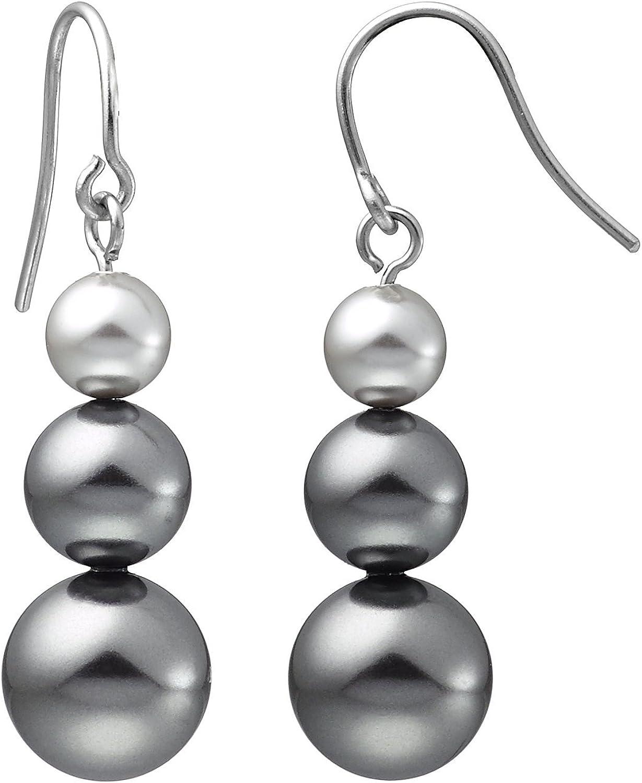 Heideman pendientes mujer de acero inoxidable color plata 925 pulida Pendientes largos con joyería