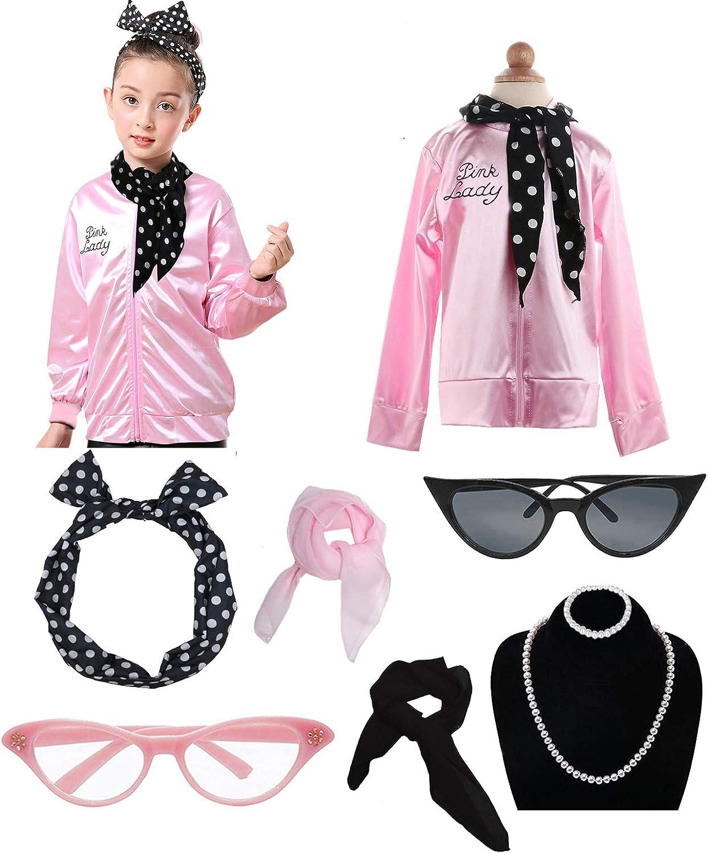 Dancing Stone Child Girls 50s Jacket Costume with Headband