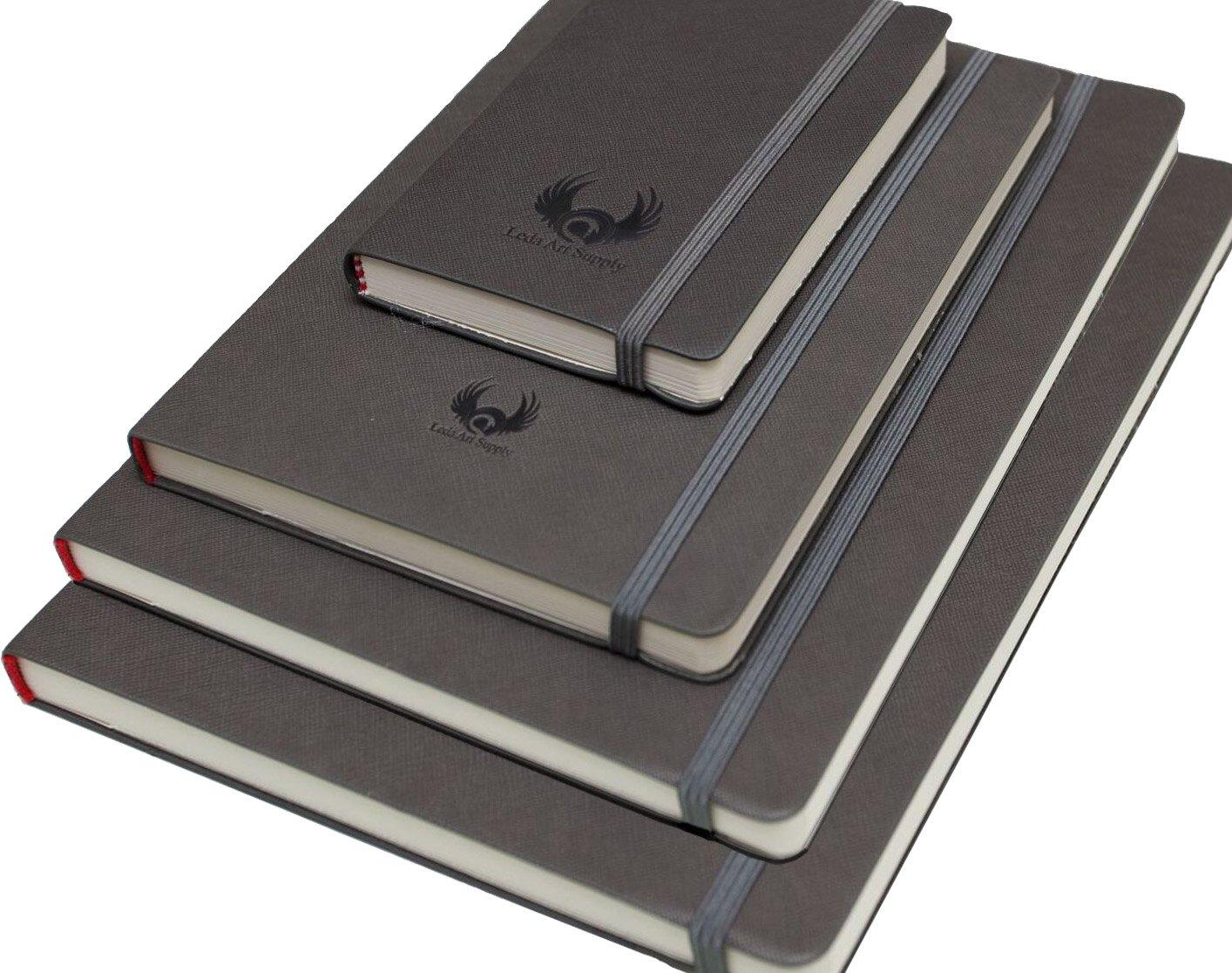 Leda Art Supply Sketchbook Multi-Pack Bundle (4 Sizes - Small Medium Large Extra Large) by Leda Art Supply