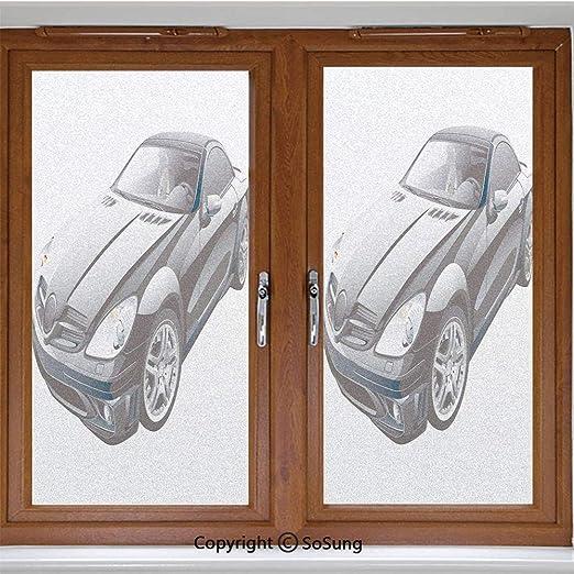 Please Come Again Basic Black Window Cling CGSignLab 5-Pack 16x16