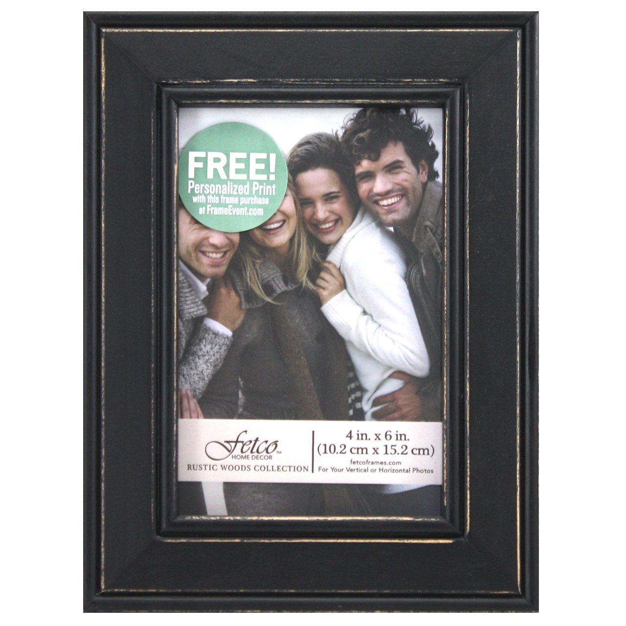 Amazon fetco home dcor longwood picture frame in rustic amazon fetco home dcor longwood picture frame in rustic woods 4 by 6 inch rustic black jeuxipadfo Gallery