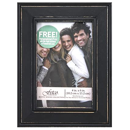 Amazon.com - Fetco Home Décor Longwood Picture Frame in Rustic Woods ...