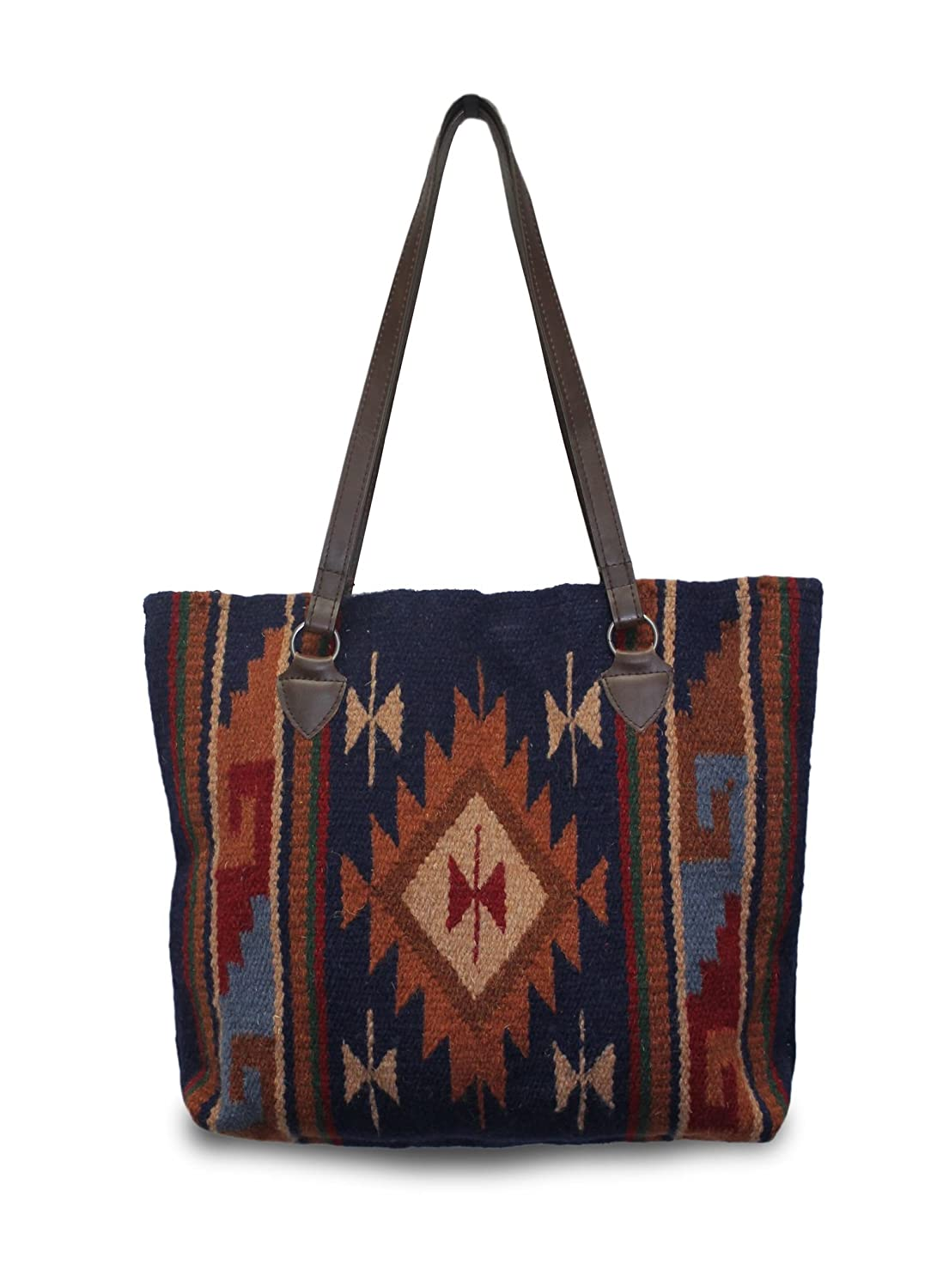 Southwest Boutique Wool Tote Purse Bag Native American Western Style Handwoven