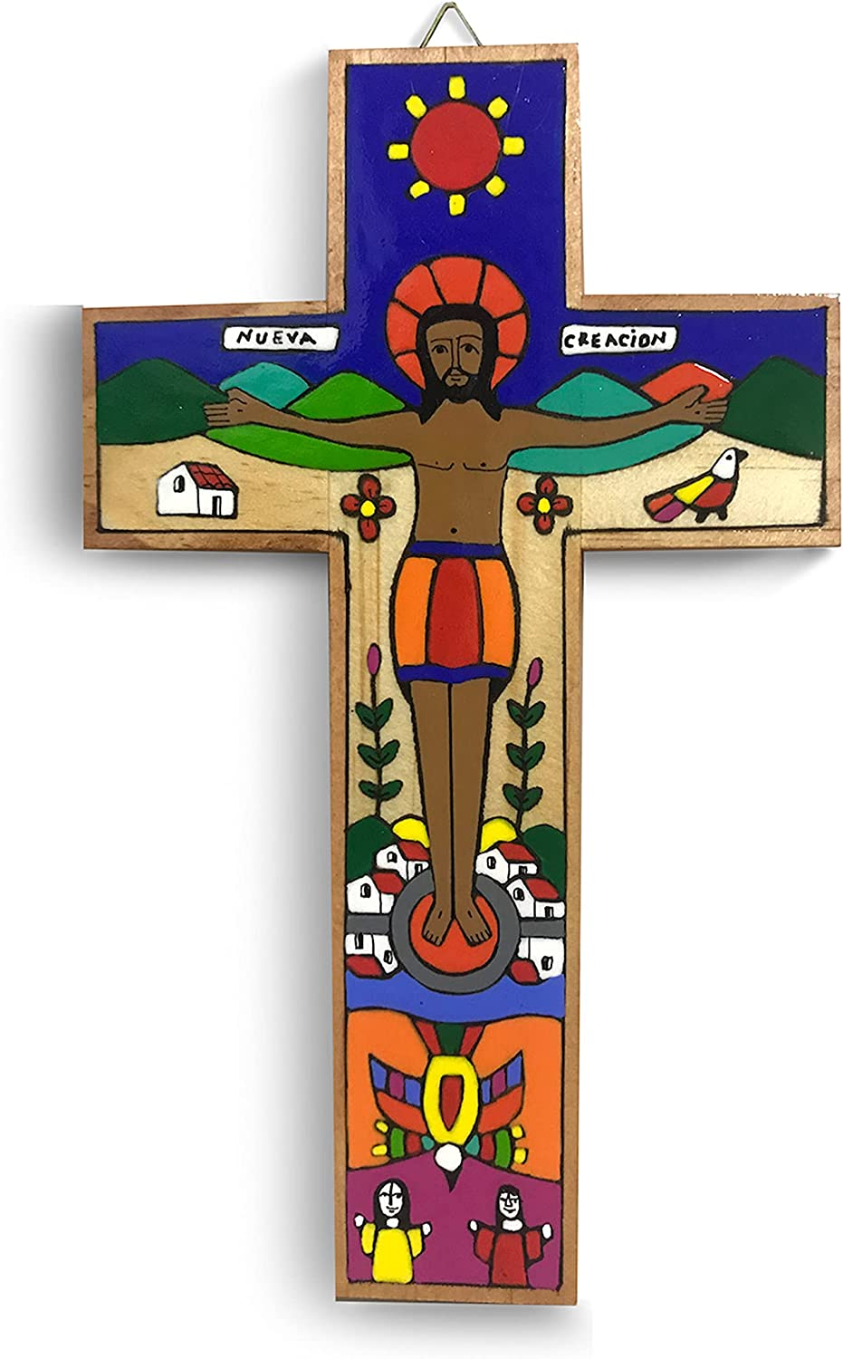 Crucifix Wall Cross Catholic Crosses For Wall Wooden Cross Wall Decor Wall Crosses For Home Decor Religious Wall Decor Cross For Wall Christian Gifts For Mom Cross Decor Jesus Decor 5 x 8 inches