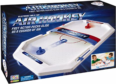 International Playthings Game Zone Fast-Paced Sports Fun in an Easily Portable Battery-Operated Rink for Ages 5 and Up P25118 Electronic Table-Top Air Hockey